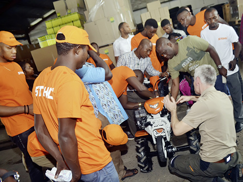 Stihl-Schulung im C.Woermann-Trainingcenter in Lagos, Nigeria.
