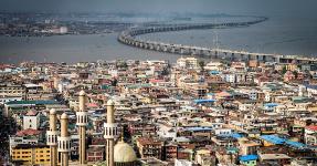 Das Hauptgebäude in Lagos, Nigeria