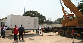 Delivery of generators in Angola