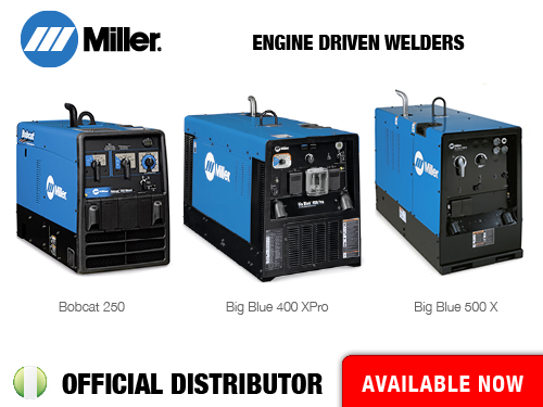 Now available: Miller Engine Driven Welders