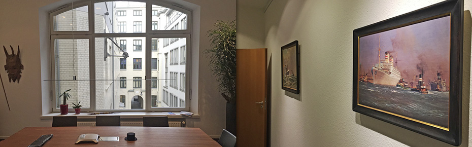 Die Büroräume von C. Woermann in Hamburg.