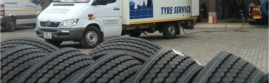 In Ghana bieten wir ein großes Spektrum an Reifen.